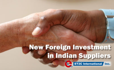 New Foreign Investment in Indian Suppliers