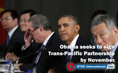 Obama seeks to sign Trans-Pacific Partnership by November