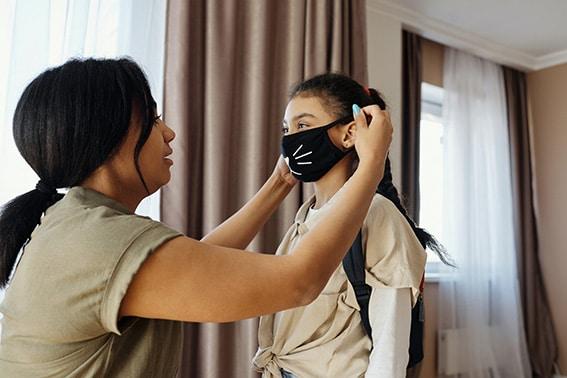 Mum mask daughter coronavirus