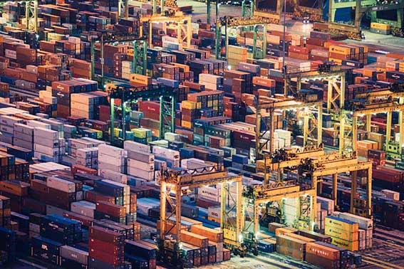 cargo ship port goods container logistics ET2C sourcing