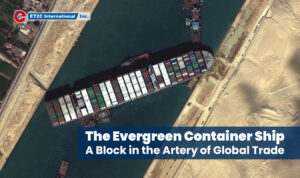 The Evergreen Container Ship Suez Canal Sourcing Procurement Shipping ET2C Int.