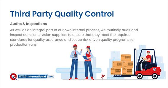Third-party Quality Control ET2C Int. quality assurance factory audit check