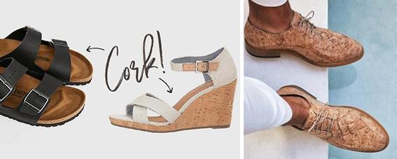 Sustainable shoes cork footwear ET2C sourcing procurement Asia suppliers